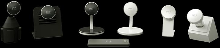 andi be free produktserie - kabelloses Handy Ladegerät fürs Auto, zuhause, reisen und unterwegs